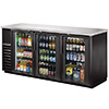 "True TBB-24-72G-LD Back Bar Storage Cooler - Three Glass Swing Door, 73""W"