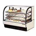 "True TCGR-59 Refrigerated Bakery Case with Curved Glass, 59""W"