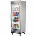 True T-19G-LD Reach-In Refrigerator with One Glass Door, 19 Cu. Ft.