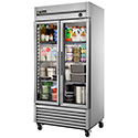 True T-35G-LD Reach-in Refrigerator with Two Glass Doors, 35 Cu. Ft.