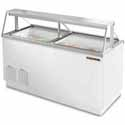 "True TDC-67 Ice Cream Dipping Cabinet - 68""W, 18.8 Cu. Ft. Capacity"