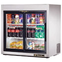 True TSD-9G-LD Countertop Reach-In Slide Glass Door Refrigerator - Two Door, 8.2 Cu. Ft.