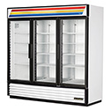 True GDM-72F-LD Glass Door Merchandiser Freezer - Three Door, 72 Cu. Ft.