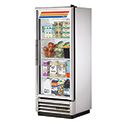 True T-12G-LD Reach-In Refrigerator with One Glass Door, 12 Cu. Ft.