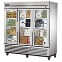 True T-72FG Reach-In Freezer- Three Glass Door, 72 Cu. Ft.