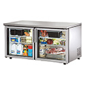 True TUC-60G-LP Low Profile Glass Door Undercounter Refrigerator, 15.5 Cu. Ft.