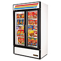 True GDM-43F-LD Glass Door Merchandiser Freezer - Two Door, 40.6 Cu. Ft.