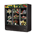 True GDM-69FC-LD Refrigerated Floral Case - Three Glass Door, 69 Cu. Ft.