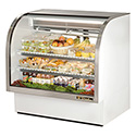 True TCGG-48 Deli Case with Curved Glass - Two Door, 23.5 Cu. Ft.
