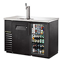 "True TDB-24-48-1-G-1-LD Bar Cooler with Direct Draw Beer Dispenser - One Glass/One Solid Door, 49""W"