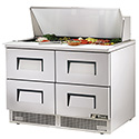 """True TFP-48-18M-D-4 Food Prep Table for 18 Pans - Four Drawer, 48""""W"""