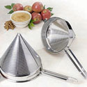 Stainless Steel China Cap Strainer Coarse Perforations, 6 Qt.