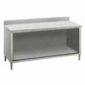 """Stainless Work Table - Open Front, 84""""W, 5"""" Backsplash"""