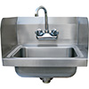 "Advance Tabco - 7-PS-EC-SP-X Hank Sink With Side Splashes, 14""Wx10""D Bowl"