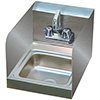 "Advance Tabco - 7-PS-23-EC-SP-X Hand Sink With Side Splashes, 9""Wx9""D Bowl"