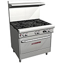 "Commercial Gas Range - 36""W, 6 Burners, 1 Standard Oven"