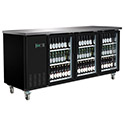 Central Exclusive 69K-108 Glass Door Back Bar Cooler, 3 Doors