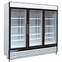 Central Exclusive 69K-119 Swing Glass Door Freezer, White, 3 Doors
