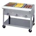 "Aerohot Electric Hot Food Table - Portable 3 Wells, 44-3/8""W"
