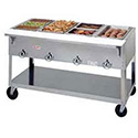 "Aerohot Electric Hot Food Table - Portable 4 Wells, 58-3/8""W"