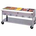 "Aerohot Electric Hot Food Table - Portable 5 Wells, 72-3/8""W"