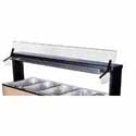 "Buffet Shelf with Sneeze Guard, 73-5/8""W, Single Sided, for Buffet Unit 700-246"
