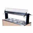 "Buffet Shelf with Sneeze Guard, 59-5/8""W, Double Sided, for Buffet Unit 700-245"