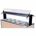 "Buffet Shelf with Sneeze Guard, 735/8""W, Double Sided, for Buffet Unit 700-246"