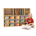 Jonti-Craft 7032YR441 Young Time Sectional Cubbie Storage - with Clear Trays - RTA
