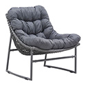 Zuo Modern 703529 Ingonish Beach Chair, Gray