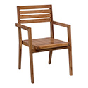 Zuo Modern 703557 Nautical Dining Arm Chair, Natural