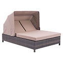 Zuo Modern 703633 Siesta Key Double Chaise Lounge, Brown & Beige
