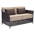 Zuo Modern 703638 Pinery Sofa, Brown & Beige