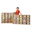 Jonti-Craft 7141YT441 Young Time 25 Cubbie-Tray Storage - with Clear Trays