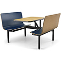 "Contour Wall Booth - Full-Size, 4 Seats, 24""x44"" Top"