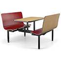 "Contour Island Booth Seating - Full-Size, 4 Seats, 24""x45"" Top"
