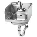 Hand Sink with Side Splashguards