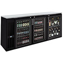 "Bar Back Storage Cooler - 3 Glass Swing Doors, 35""H"