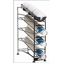 """Wireworks Cup Dispenser and Lid Organizer - 4 Tier, 24-3/8""""W"""