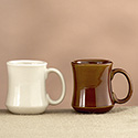 China Mug - 7 oz., Cream White or Caramel