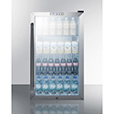 Summit SCR486L Counter Height Beverage Cooler with Glass Door, 3.35 Cu. Ft.