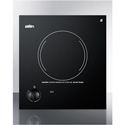 Summit Appliance CR1115 115V Single Burner Cooktop In Black Ceramic Glass, Made In Europe