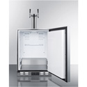Summit Appliance SBC590OS Outdoor Frost-Free Beer Dispenser For Built-In Use, With Dual Tap System For Two 1/6 Kegs