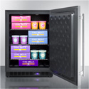 Summit Appliance SCFF53BCSS Built-In, Frost-Free, 24 Inch Wide Under-Counter Freezer