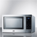 Summit Appliance SCM853 Stainless Steel Microwave Oven With Digital Touch Controls;