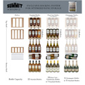 Summit Appliance SCR312LBICSSWC2 Compact Commercial Glass Door Beverage Cooler, For Built-In Or Freestanding Use