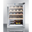 Summit Appliance SCR312LBIWC2 Compact Commercial Glass Door Beverage Cooler, For Built-In Or Freestanding Use
