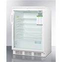 "Summit Appliance SCR600LPLUSADA Commercial, Counter-Height, 24"" Wide Glass Door All-Refrigerator For ADA Height Counters"