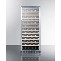 Summit Appliance SWC1102 102 Bottle Single-Zone Wine Cellar With Glass Door, Digital Thermostat, And Black Cabinet