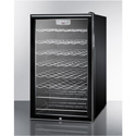 """Summit Appliance SWC525L7HH 20"""" Wide Counter-Height Wine Cellar With Lock And Digital Thermostat"""